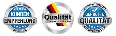 made in Germany - geprüfte Qualität
